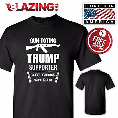 Donald Trump President T Shirt Pro Guns 2Nd Amendment Great Gift Patriotic Shirt