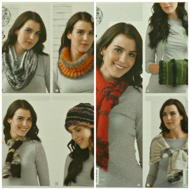 KNITTING PATTERN Ladies Easy Knit Beanie Hat Cowl Scarf Wrap Urban KingCole 4333