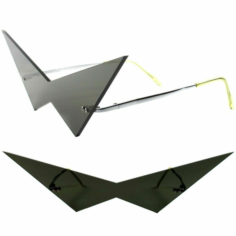 Anime Comic Robot Costume Cosplay Black Scalene Triangle Cool Shades Sun Glasses