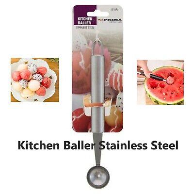 Large Stainless Steel Kitchen Melon Baller Fruit Scoop Ice Cream Ball Dessert