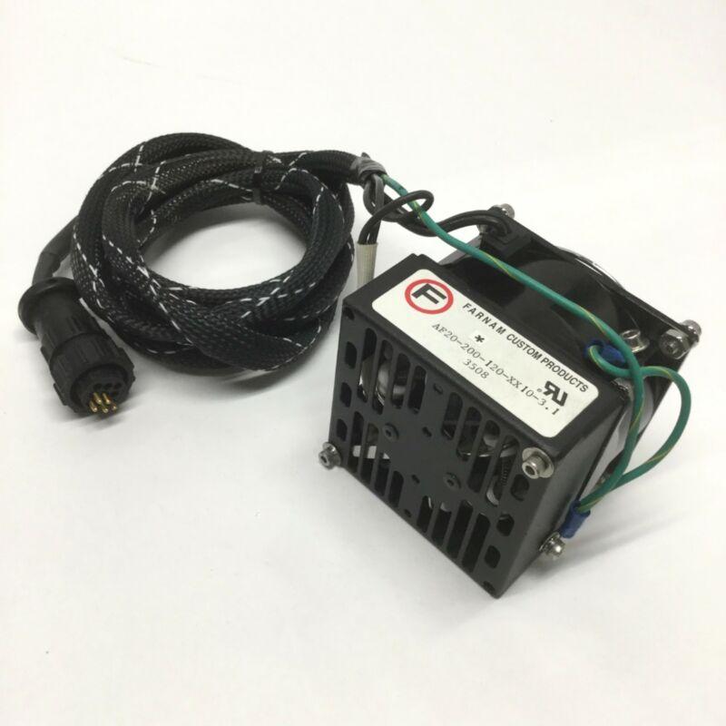"""Farnam AF20-200-120-XX10-3.1 Axial Fan Heater 200W, 120VAC, with 3.15"""" (80mm)"""