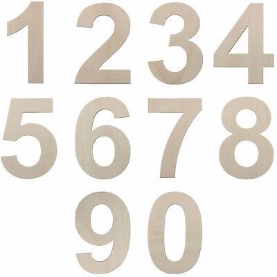 Zahlen aus Holz Größe wählbar 7,5 - 80 cm / 75 - 800 mm Klein - XXL Groß