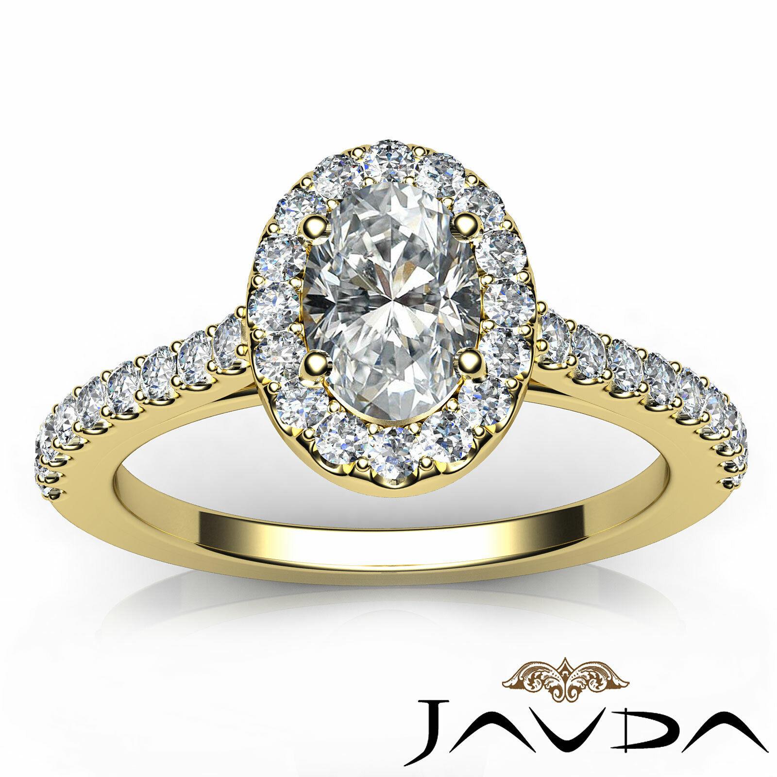 1.6ctw Prong Setting Oval Diamond Engagement Ring GIA H-VS1 White Gold Women New 10