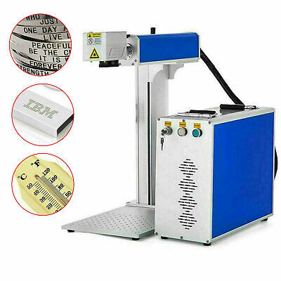 30w 110v Fiber Laser Marking Machine Metal Engraving Engraver High Precision