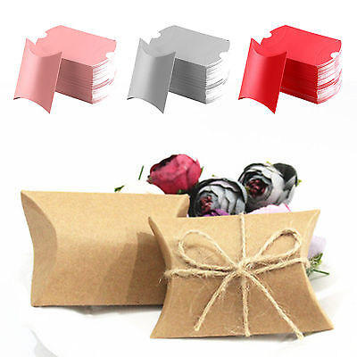 50pcs Kraft Gift Candy Boxes Wedding Birthday Party Baby Shower Favor Sweet Bag