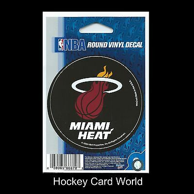 "(HCW) Miami Heat 3"" Round Vinyl Decal Sticker NBA Licensed In/Outdoor"