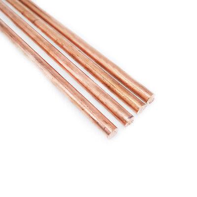 Us Stock 4pcs 5mm Dia. 9.85 Long 99.9 Pure Copper T2 Cu Metal Rods Cylinder