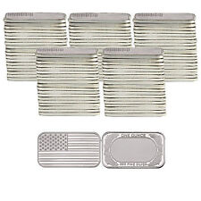 American Flag 1oz .999 Fine Silver Bar by SilverTowne LOT of 100