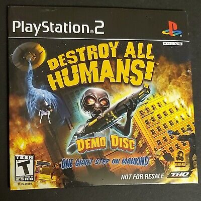 PlayStation 2 Destroy All Humans! Demo Disc 2005 THQ PS2 SEALED RARE