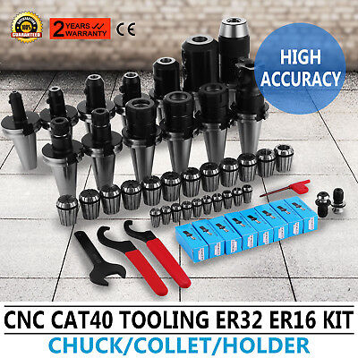 Cat 40 Tooling Kit For Haas Fadal Cnc Mill-er Chuck Collet Holder Er3216 Tap