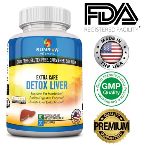 Liver Detox Cleanse Support w Milk Thistle Dandelion, Beet R