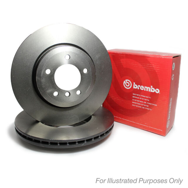 360mm Diam Brembo Painted Front Brake Discs Pair Genuine OE Quality Service Part