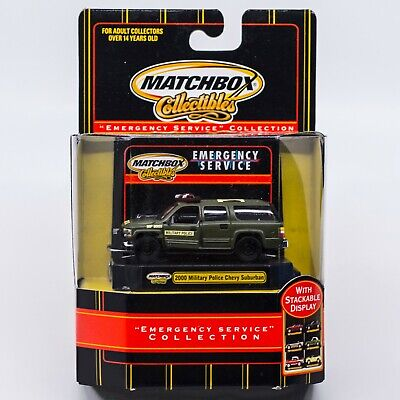 Matchbox Emergency Service Collection 2000 Chevy Suburban Military Police NIP