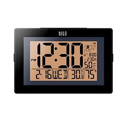 HITO Extra Large Atomic Radio Controlled Desk Wall Clock w/ Aut... Free Shipping