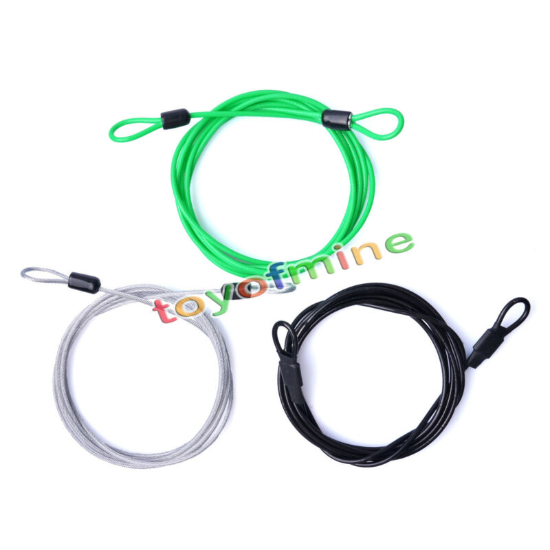 200cm Security Loop Cable Lock Bicycle Bikes Scooter U-Lock Rope For MTB Cycling