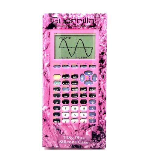 Guerrilla Pink Silicone Case Texas Instruments TI-83 Plus Graphing Calculator