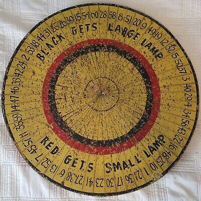 Vintage Carnival NUMBER Game Spinning Wheel Americana Folk Art 20