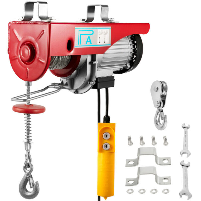 Electric Hoist Lifting Engine  440LB Heavy Duty Motor 200Kg  Winch Hoist Crane