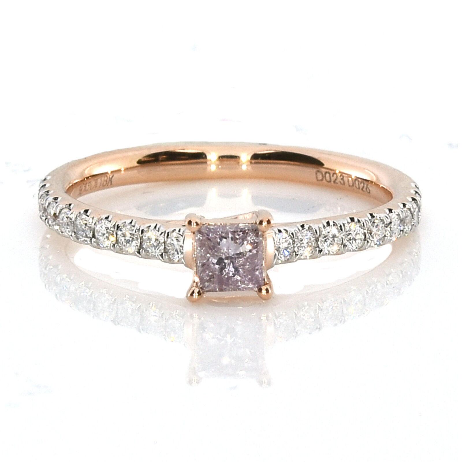 0 53ct natural fancy pink purple diamond