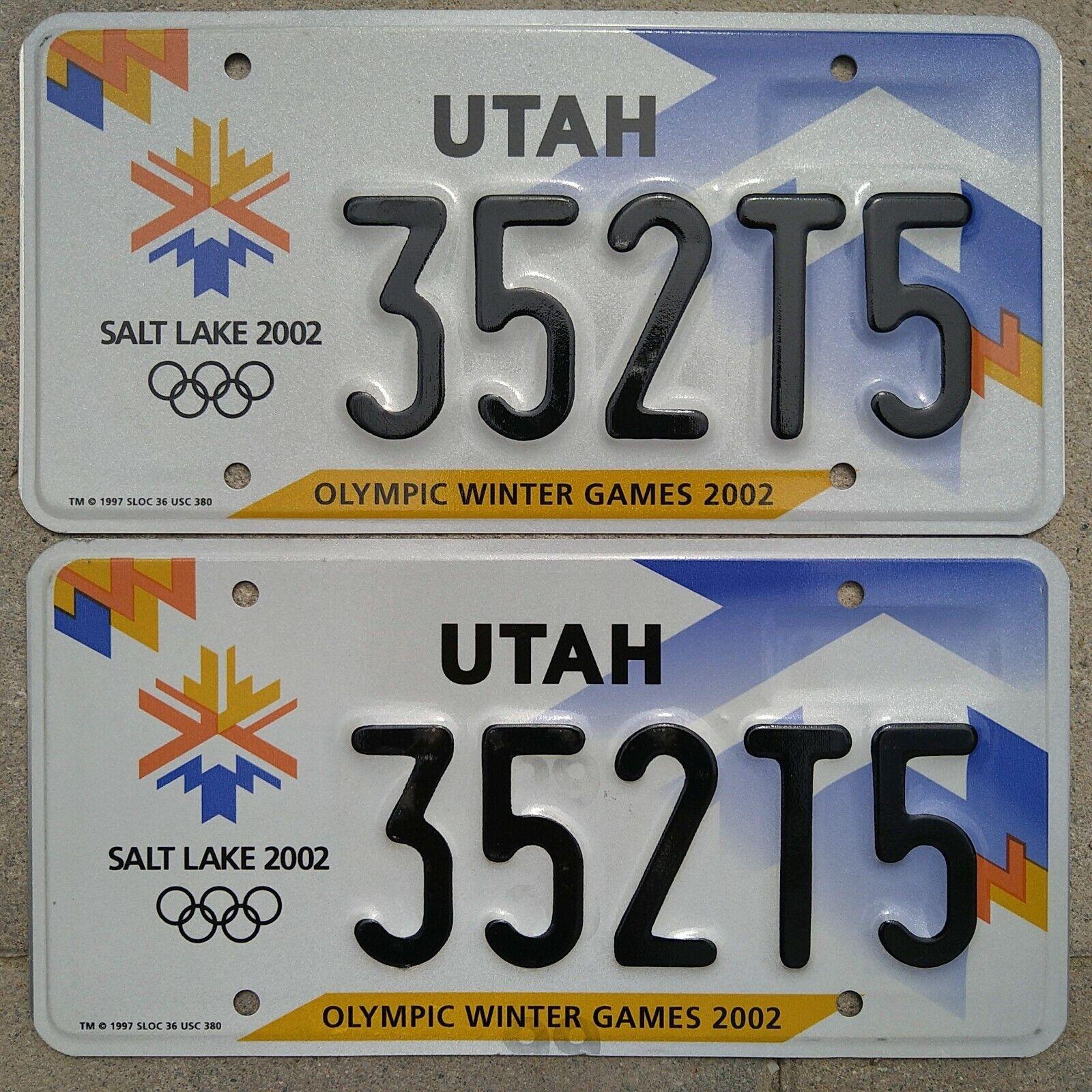 Utah Olympische Winterspiele 2002 Kennzeichen Nummernschild PAAR Salt Lake City