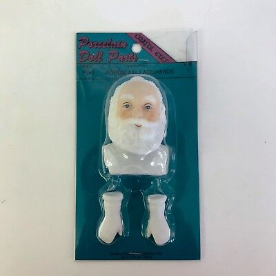 Porcelain Doll Parts Santa Claus Face and White Gloves Hands Crafts Etc PD-5