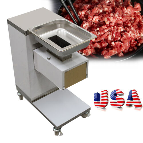 2021 US Commercial Meat Slicer Meat Cut Machine Cutter Stainless 500kg/Hour 3MM - $1,221.00