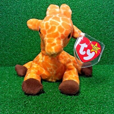 Ty Beanie Baby TWIGS Giraffe  w/ Tag ERRORS Plush Toy RARE PVC RETIRED