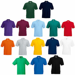 FRUIT-OF-THE-LOOM-POLO-SHIRT-ALL-SIZES-S-M-L-XL-XXL