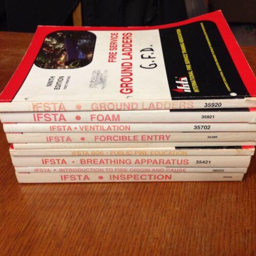 Lot of 9 IFSTA Fire Service Training Manuals - Fire Fighter Training
