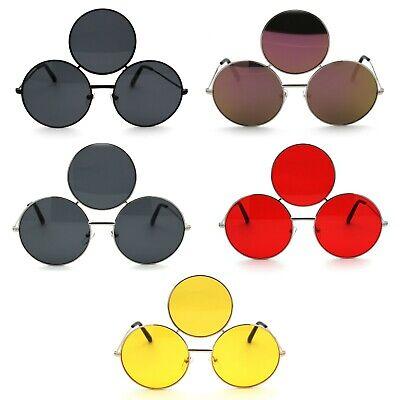 Funky Three Lens Round Circle Lens Hippie (Circle Lens Shades)