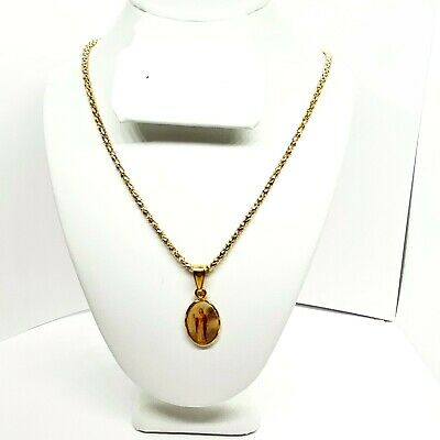 Saint Catherine Vintage Sterling Jewelry Religious Medal Pendant on 18 sterling rolo chain
