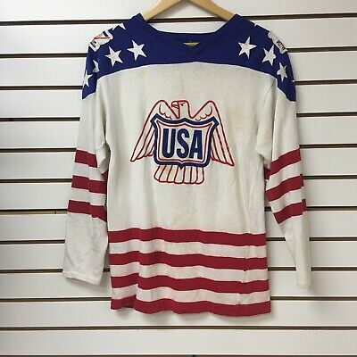a330982affe Vintage Team Usa Canada Cup 1976 Hockey Jersey Size Large