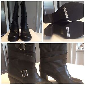 Brand new leather Mollini boots, size 39 Woolooware Sutherland Area Preview
