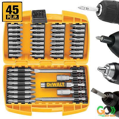 SCREWDRIVER BIT SET Magnetic Drive Guide 45 Piece Tool Kit Screw Driver Bits Dewalt Magnetic Drive Guide