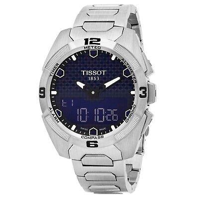 Tissot Mens T Touch Expert Blue Dial Titanium Swiss Quartz Watch T0914204404100