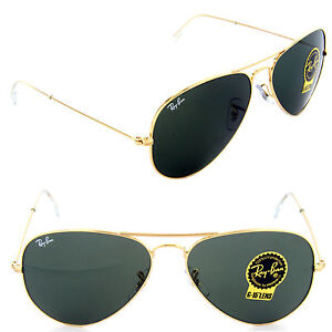 a11b2f48046 Ray Ban Aviator Gold Sunglasses W  Green Lens Rb3025 L0205 for sale ...
