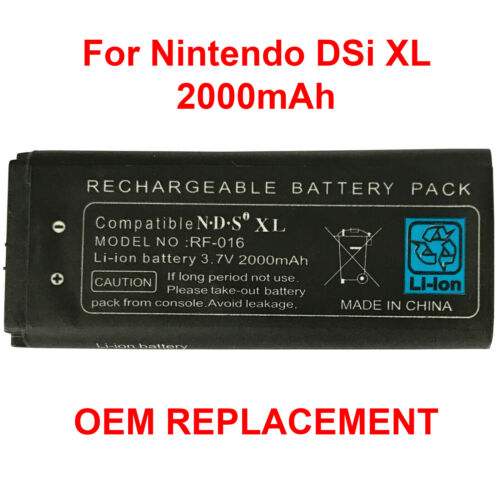 OEM New Battery Replacement Pack For Nintendo DSi XL 2000mAh 3.7V Rechargeable