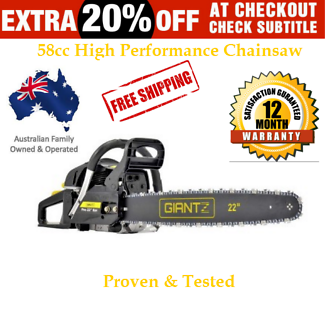 New Petrol Commercial Chainsaw 22 Inch Free Delivery