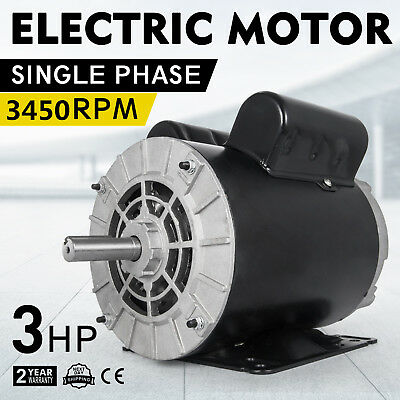 3450RPM 60 Hz 3HP SPL1Phase Electric Air Compressor Duty Mot