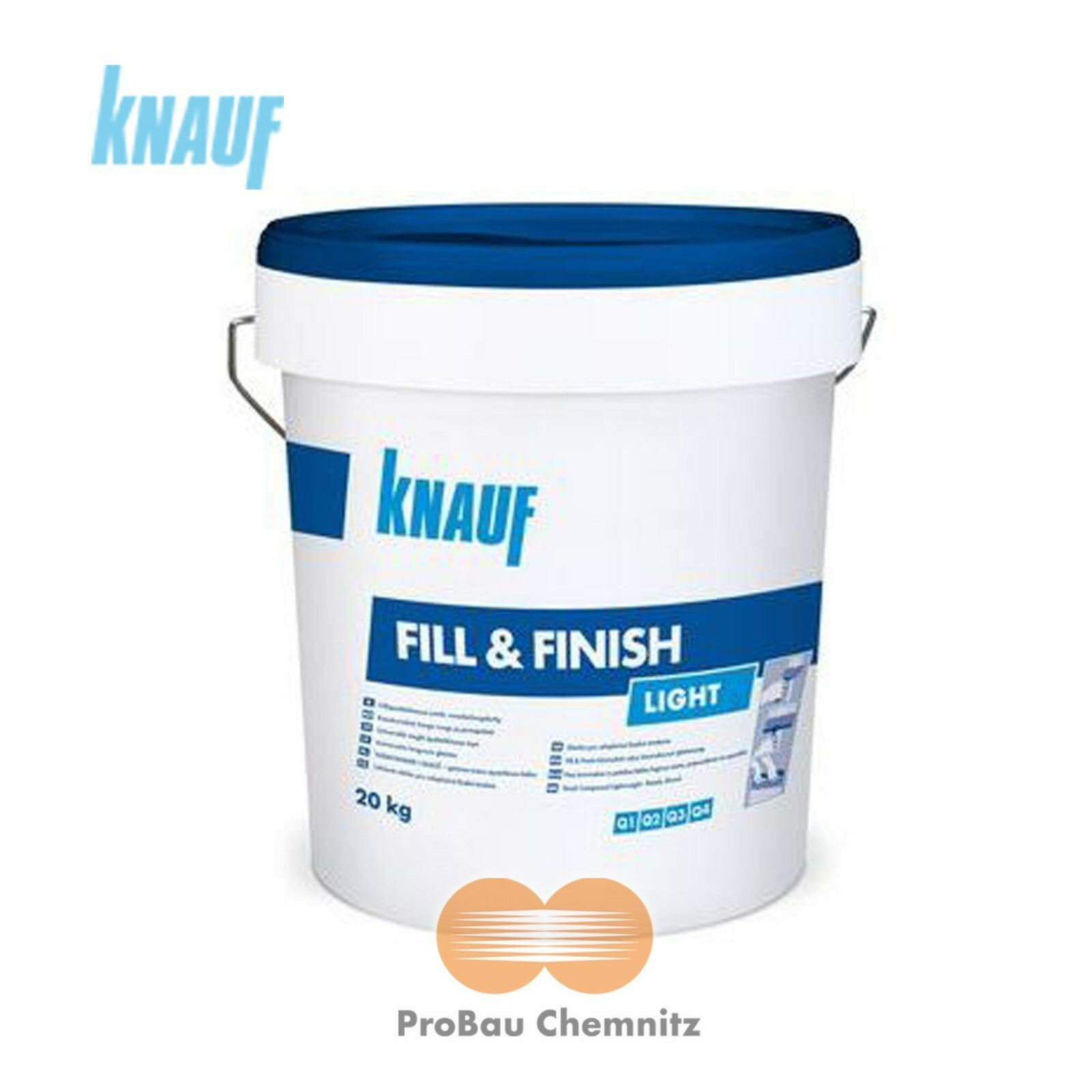 knauf sheetrock fill & finish light 20kg füllmasse