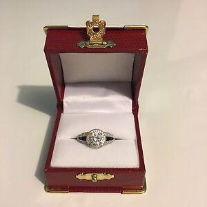 925 SILVER Stone Diamond Ring - gorgeous!