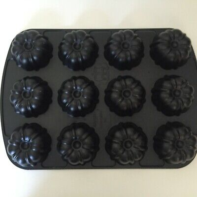 Nordic Ware Baking Mold,Fluted Muffin Pan, Mini Cake or Brownie Mold, Makes (Brownies Mini Muffin Pan)