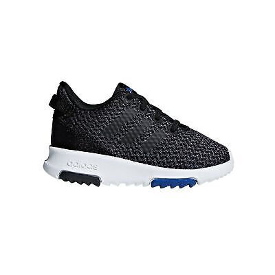 adidas Racer Infant Kids Boys Fashion Trainer Shoe Black/Blue