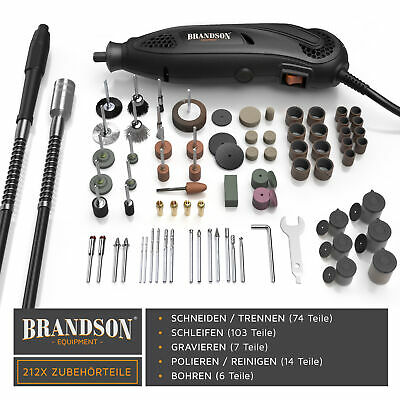 Brandson Dremel - Multifunktionswerkzeug 135W inkl. 212-teiligem Zubehör Angebot