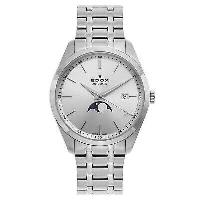 Edox Les Vauberts Moonphase 80505 Men's Swiss Made Automatic Watch $1550 NEW