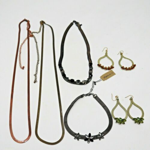 Wholesale Lot of 6 Earring Necklaces Chokers Stephan & Co. Mesh Chain Samples