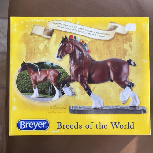 Breyer Breeds of the World Clydesdale Draft Horse #8254 Resin