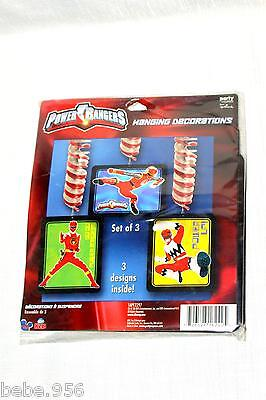 POWER RANGERS - HANGING DECORATION  BIRTHDAY-CHILD  MULTI-COLOR   PARTY SUPPLIES ()