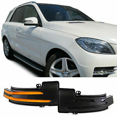 Dynamische LED Spiegel Blinker Schwarz für Mercedes ML W164 W166 R W251 G W463