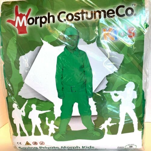 Saving Private Morph Kids Green Soldier Costume Size Medium Youth